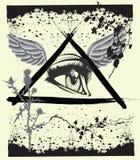 Het oog van Grunge god´s Royalty-vrije Stock Afbeelding