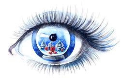 Het oog van Kerstmis Stock Foto's