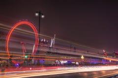 Het Oog van Londen in Londen Stock Foto's
