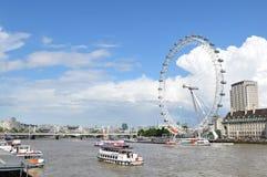 Het Oog van Londen stock foto's