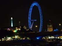 Het Oog van Londen bij nacht Royalty-vrije Stock Afbeeldingen