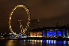 Het oog van Londen bij Schemer Royalty-vrije Stock Afbeelding