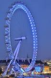 Het Oog van Londen in de nacht Stock Afbeeldingen