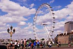 Het Oog van Londen, geniet van de beste meningen van Oldon stock afbeeldingen