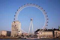 Het Oog van Londen, het Wiel van het Millennium Stock Foto