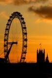 Het Oog van Londen in Londen Royalty-vrije Stock Afbeelding