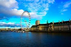Het Oog van Londen in Londen Royalty-vrije Stock Fotografie