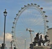 Het Oog van Londen in Londen Stock Fotografie
