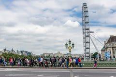 Het Oog van Londen in Londen Royalty-vrije Stock Afbeeldingen