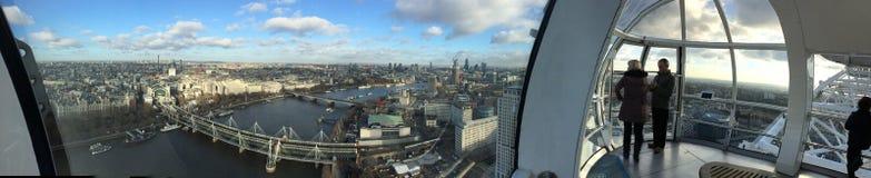 Het Oog van Londen in Londen Stock Foto