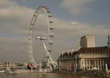 Het Oog van Londen, Londen, het UK Stock Foto