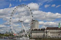 Het oog van Londen, Londen, het UK Royalty-vrije Stock Fotografie