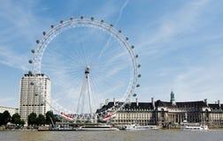 Het oog van Londen, Londen, het Verenigd Koninkrijk Royalty-vrije Stock Afbeelding