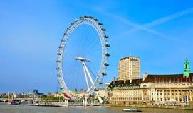 Het Oog van Londen, in Londen, het Verenigd Koninkrijk Royalty-vrije Stock Foto