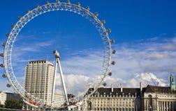 Het Oog van Londen op de Theems Stock Foto's