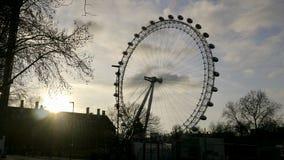 Het Oog van Londen van straatniveau royalty-vrije stock foto