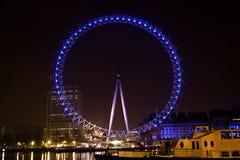 29 het Oog van Londen van Januari 2013 bij nacht, Londen, Engeland Stock Afbeelding