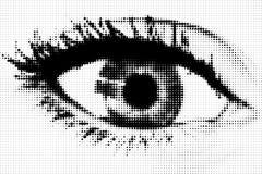 Het oog van punten vector illustratie