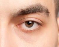 Het oogclose-up van de mens stock afbeeldingen