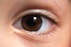 Het oogmacro van het kind Stock Foto