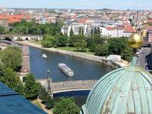 Het oogmening van vogels van Berlijn royalty-vrije stock afbeelding