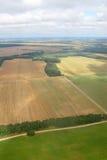 Het oogsten. Lucht beeld. Stock Afbeelding