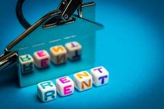 Het oogsten voor huurhuisvesting Plaats voor uw tekst stock fotografie