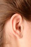 Het oor van de vrouw Royalty-vrije Stock Fotografie