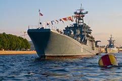 Het oorlogsschip Stock Afbeeldingen