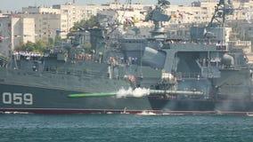 Het oorlogsschip van de torpedoaanval stock videobeelden
