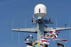 Het Oorlogsschip van het Fregat van de marine stock afbeelding