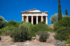 Het oostelijke gezicht de Tempel van Hephaestus. Athene, Griekenland. Stock Afbeelding