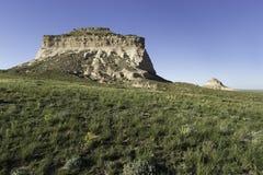 Het oosten en Buttes van het Westenpawnee in het Noorden - oostelijk Colorado Royalty-vrije Stock Afbeeldingen