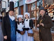 HET OOSTEN GRINSTEAD, HET WESTEN SUSSEX/UK - 20 DECEMBER: Dickensiandag binnen Stock Afbeeldingen