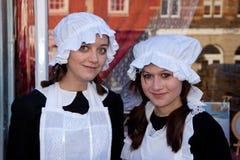 HET OOSTEN GRINSTEAD, HET WESTEN SUSSEX/UK - 20 DECEMBER: Dickensiandag binnen Stock Afbeelding