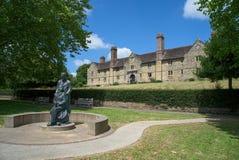 HET OOSTEN GRINSTEAD, HET WESTEN SUSSEX/UK - 17 JUNI: McIndoegedenkteken in E Royalty-vrije Stock Afbeeldingen