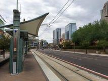 Het oosten Jefferson Street, Phoenix, AZ Stock Foto
