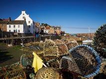 Het Oosten Neuk Fife van de Pittenweemhaven stock foto
