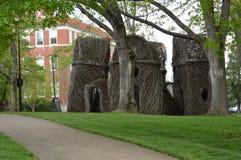 Het oosten Tennessee State University - boom-Tak Beeldhouwwerk door Patrick Dougherty Stock Afbeelding