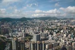 Het oosten van het eiland van het zijaanzichthongkong van Kowloon bij ICC Stock Fotografie