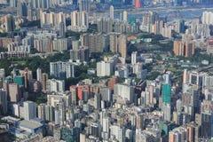 Het oosten van het zijaanzicht Hongkong van Kowloon isaland bij ICC Stock Foto's