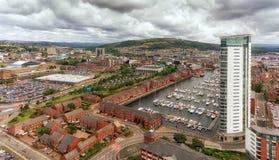 Het Oosten van Swansea Stock Afbeeldingen