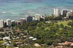 Het oosten Waikiki Hawaï stock foto