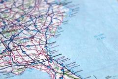 Het oostenkust Amerika van de kaart Stock Afbeelding