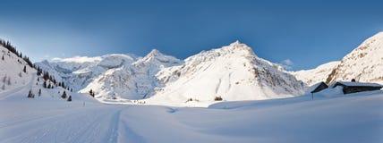 Het Oostenrijkse landschap van de winter Stock Afbeeldingen