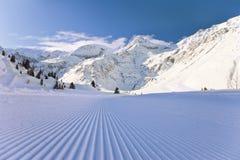 Het Oostenrijkse landschap van de winter Stock Afbeelding
