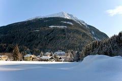Het Oostenrijkse landschap van de winter Royalty-vrije Stock Afbeeldingen