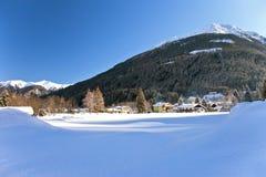 Het Oostenrijkse landschap van de winter royalty-vrije stock foto