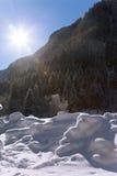 Het Oostenrijkse landschap van de winter royalty-vrije stock afbeelding