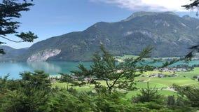 Het Oostenrijkse Meer van Alpen stock videobeelden
